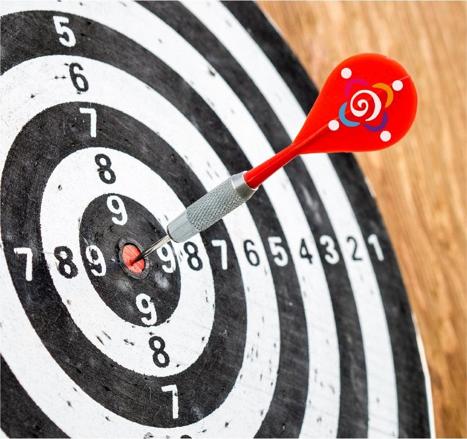 Contact pic target dart