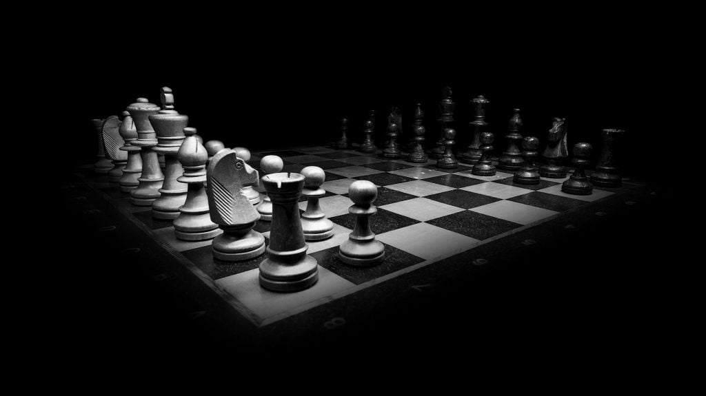 chess board black and white